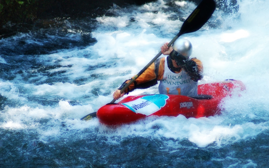 Carrera de Kayaks en el río Alseseca 2013